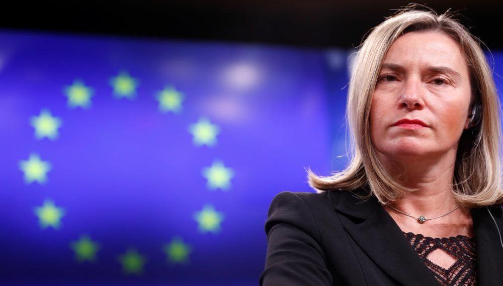 BR01. BRUSELAS (BÉLGICA), 15/03/2019.- La jefa de la diplomacia europea, Federica Mogherini, comparece ante la prensa tras finalizar el Consejo UE-Turquía en Bruselas (Bélgica). EFE/ Olivier Hoslet