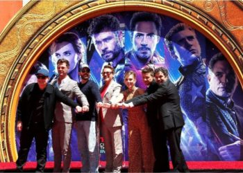Miembros del elenco de la película de Marvel Studios 'Avengers: Endgame'. Foto: EFE