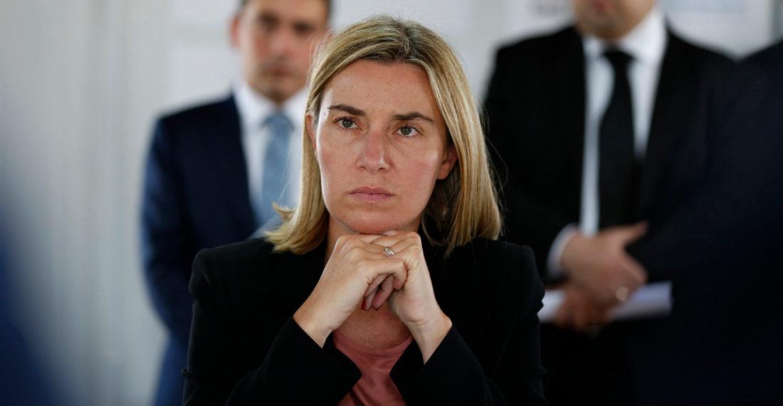 Alta representante de la UE para la política exterior, Federica Mogherini.
