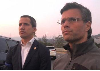 El presidente interino de Venezuela, Juan Guaidó, liberó a Leopoldo López. Foto: Twitter Leopoldo López
