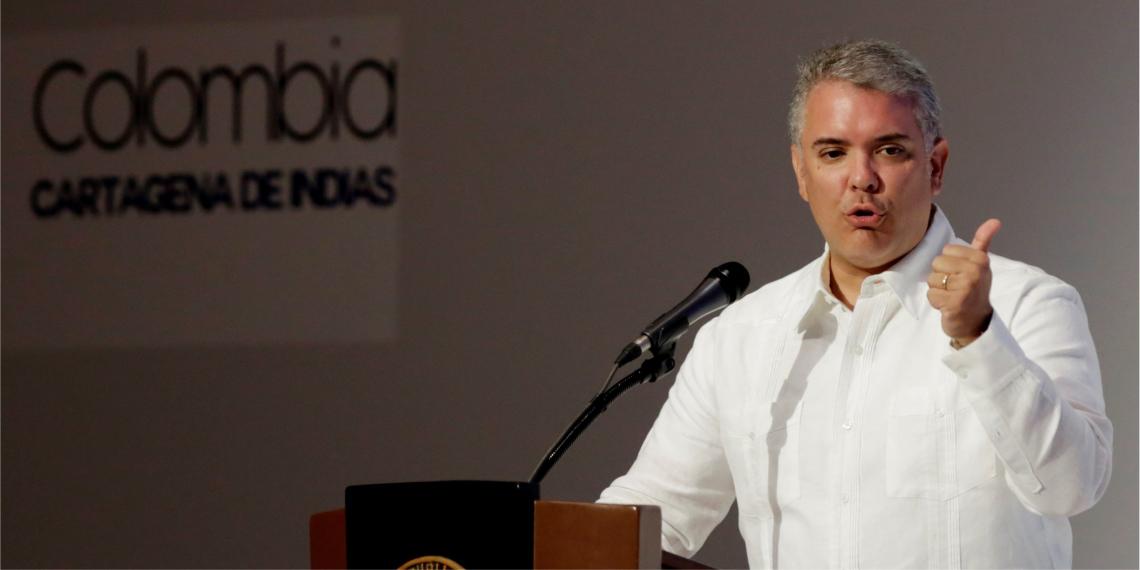 """Iván Duque pidió este martes a los venezolanos que se unan en la """"búsqueda de la libertad"""" para desalojar del poder a Nicolás Maduro. Foto: EFE"""