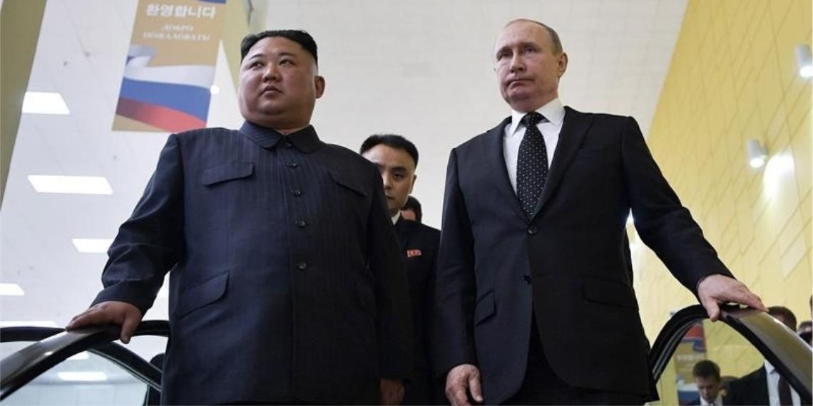 El presidente ruso, Vladímir Putin, y el líder norcoreano, Kim Jong-un, se reunieron este jueves por primera vez en sus mandatos.