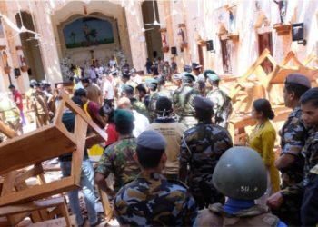 Ataque a una de las iglesias en Sri Lanka. Foto: EFE