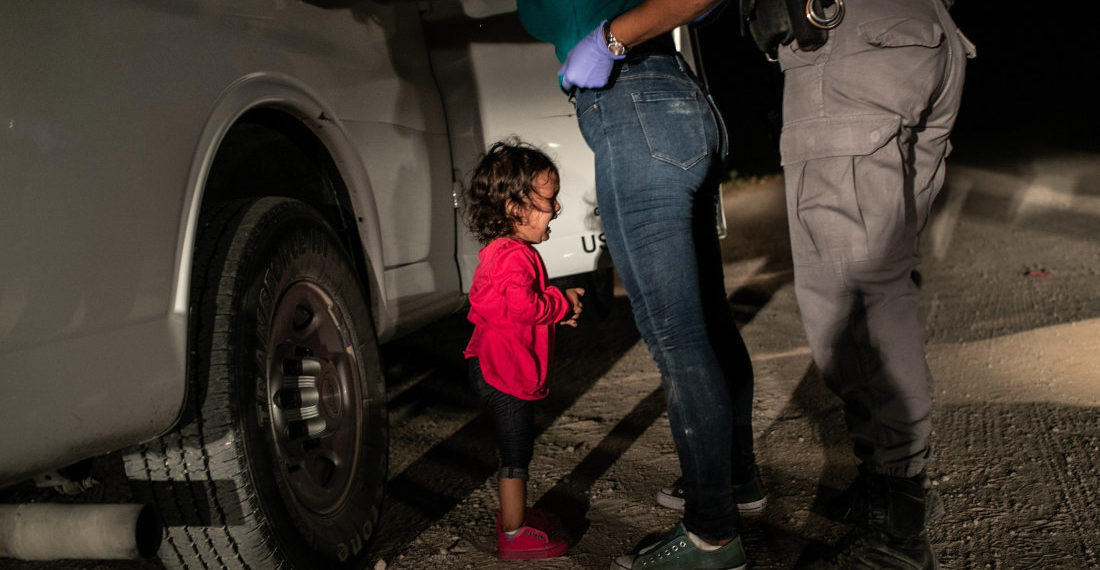 Fotografía del año, tomada por John Moore el 12 de junio de 2018 y cedida por la organización World Press Photo. EFE/John Moore/Getty Images.